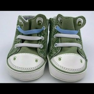 Mayoral Newborn Shoes Reptile Theme Zipper Secured